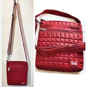 Lug red crossbody puffer puffy purse bag so cute!